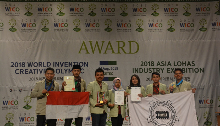 UGM Students Win Awards at 2018 World Invention Creativity Olympic