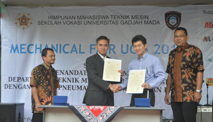 Vocational School UGM Builds Cooperation with SMC Pneumatics and LSP IIM